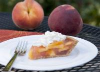 Peach pie at the peach festival