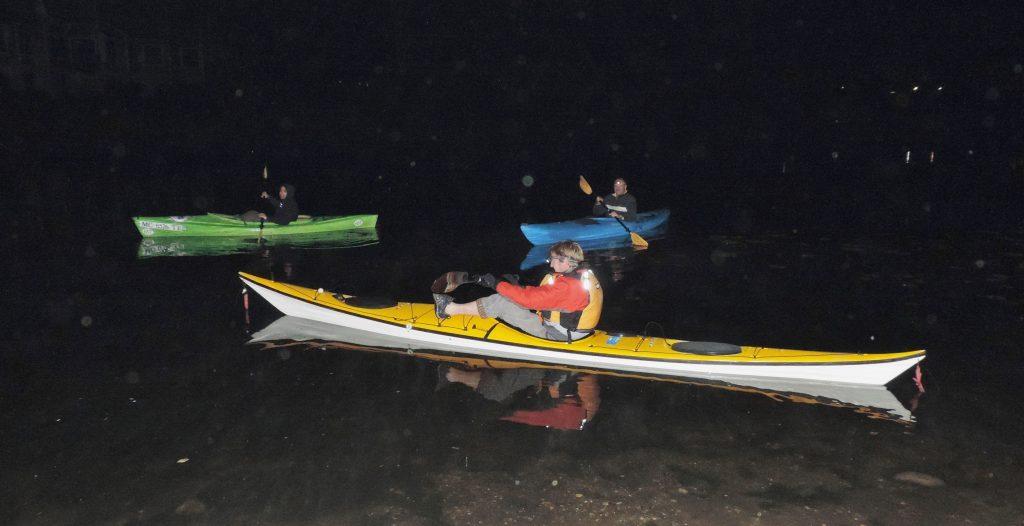 Night kayaking