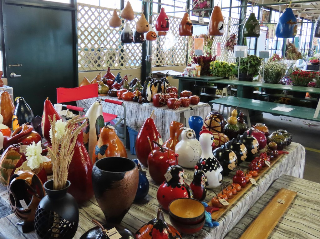 colorful gourds in store