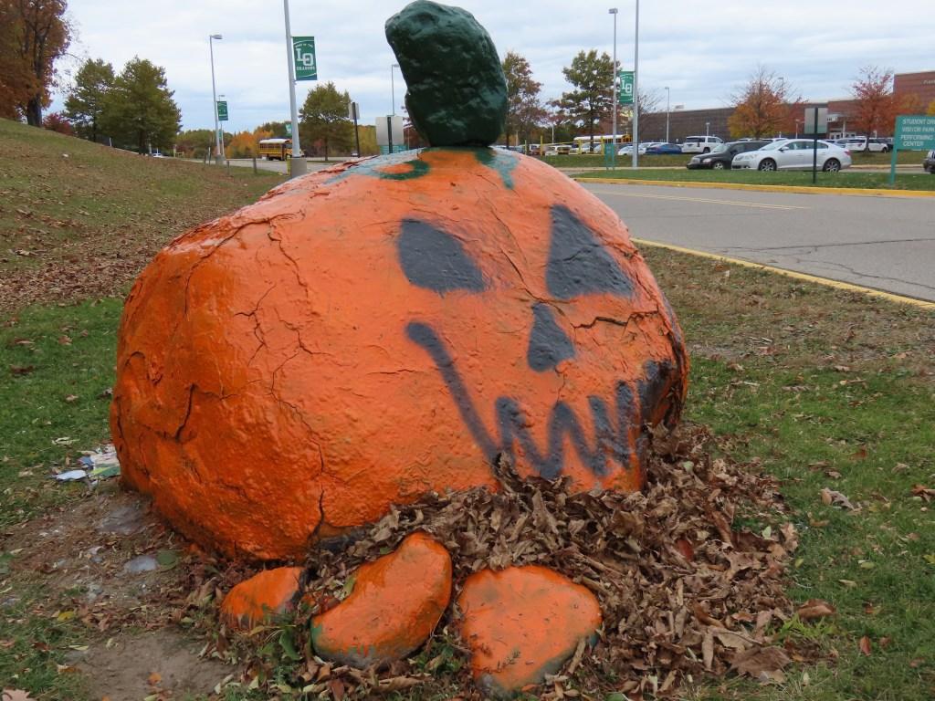 large pumpkin display